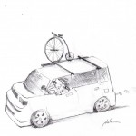 Scion Xb with Bike